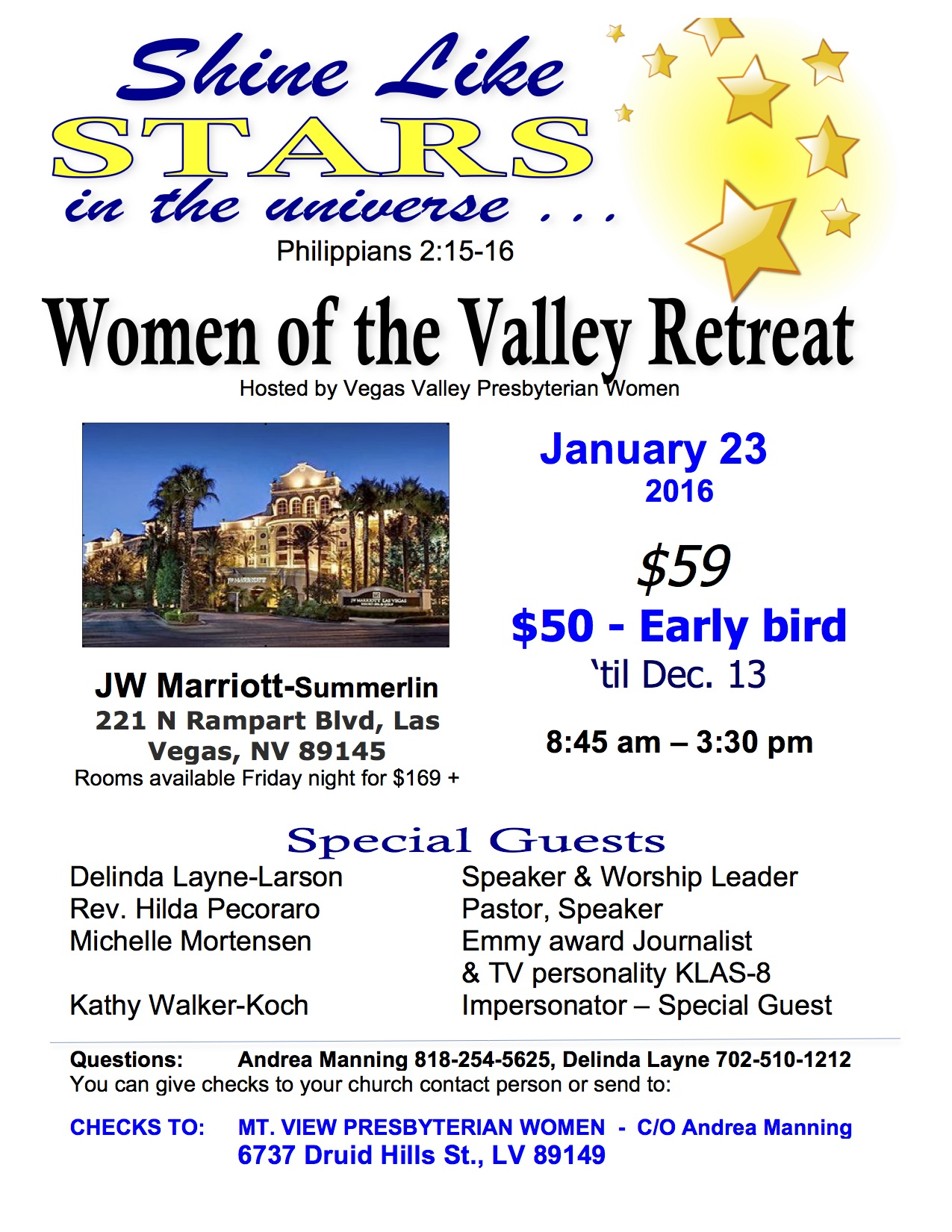 Women of the Valley -2016 Retreat-FLYER